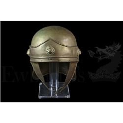 † Spartacus (1960) A Roman Helmet and Tunic. Both helmet and tunic feature embossed circular lion he