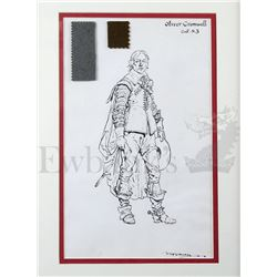 † Cromwell (1970) Richard Harris as 'Cromwell' costume design. Full length costume design, signed an