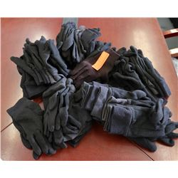 Large Lot of Black Gloves, Approx. 25