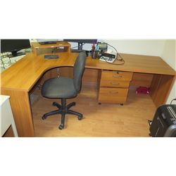 L-Shaped Desk and Office Chair