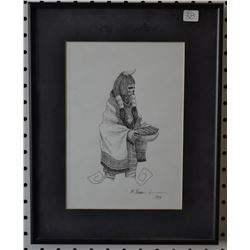 HOPI INDIAN PEN AND INK