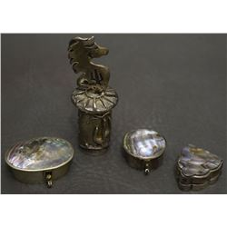 THREE MEXICAN SILVER ITEMS
