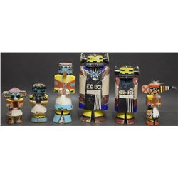 SIX HOPI INDIAN RT 66 KACHINAS