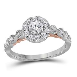 0.74 CTW Diamond Solitaire Bellina Bridal Engagement Ring 14KT Two-tone Gold - REF-104H9M