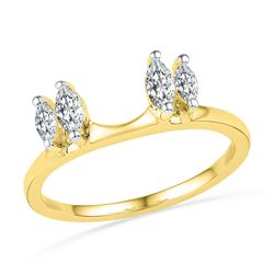 0.50 CTW Oval Diamond Ring 14KT Yellow Gold - REF-56X2Y
