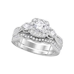 1 CTW Diamond Bridal Wedding Engagement Ring 14k White Gold - REF-194W9K