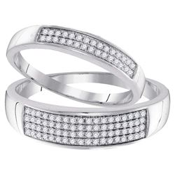 0.31 CTW His & Hers Diamond Matching Ring 10KT White Gold - REF-30W2K