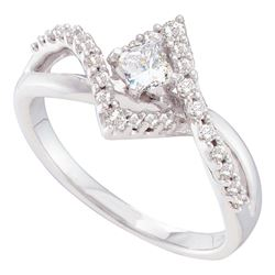 0.50 CTW Princess Diamond Solitaire Bridal Engagement Ring 14KT White Gold - REF-75Y2X