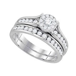 1 CTW Diamond Bridal Wedding Engagement Ring 14KT White Gold - REF-127K4W