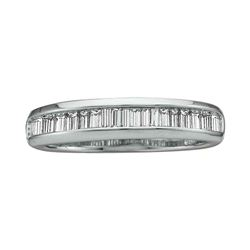 0.50 CTW Diamond Wedding Anniversary Ring 14KT White Gold - REF-28Y4X