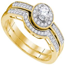 0.50 CTW Diamond Bridal Wedding Engagement Ring 10KT Yellow Gold - REF-52F4N