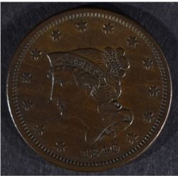 1840 LARGE CENT, XF
