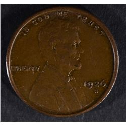 1926-S LINCOLN CENT, AU KEY DATE
