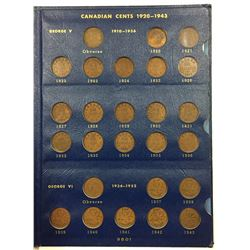 Canada 1920 to 1969 Small Cent Collection in Whitman Holder