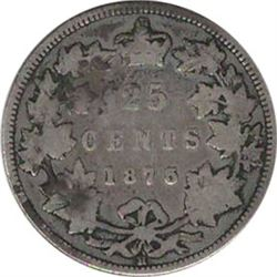 Canada 1875 Silver 25 Cent Key Date G6