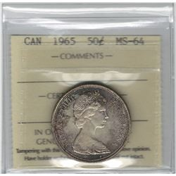Canada 1965 Silver 50 Cent MS64