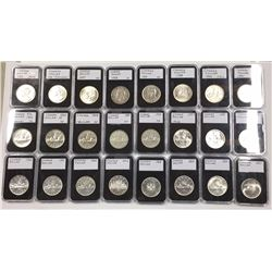Canada 1935 to 1967 Silver Dollar Collection In Plastic Holders