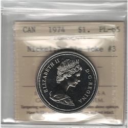 Canada 1974 Winnipeg Nickel Dollar Double Yoke #3 ICCS PL65