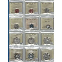 Canada Lot of 12 ICCS Certified Coins. Trends $160+