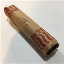 Canada 1953 1 Cent Roll Circulated (50 pcs)