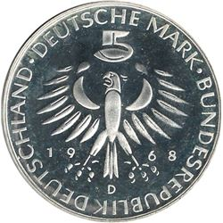 Germany 1968D Silver 5 Mark