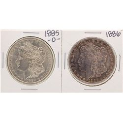 Lot of 1885-O & 1886 $1 Morgan Silver Dollar Coins