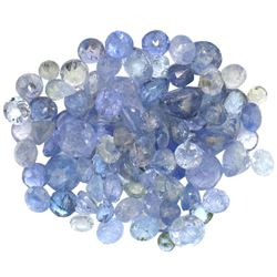 13.53 ctw Round Mixed Tanzanite Parcel