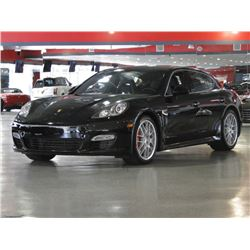 2010 Black Metallic Porsche Panamera Turbo Sedan
