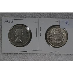 Canada Fifty Cent Coins (2)