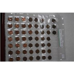 Collection of American One Cent Coins (Assorted Dates)