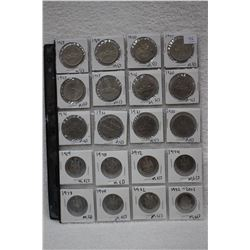 Canada Fifty Cent Coins (8) & Canada Dollar Coins (12)