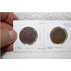 Canada One Cent Coins (2)