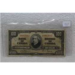 Canada One Hundred Dollar Bills (1)