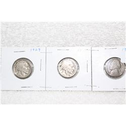 U.S.A. Five Cent Coins (3)