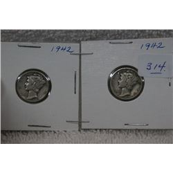 U.S.A. Ten Cent Coins (2)