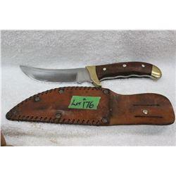 "Brass & Wood Handle Knife ""Old Smoky"""