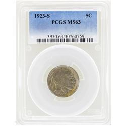 1923-S Buffalo Nickel Coin PCGS MS63