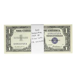 Lot of (25) Consecutive 1957 $1 Silver Certificate Notes Choice Uncirculated