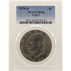 1976-D Eisenhower Dollar PCGS MS66