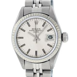 Rolex Ladies Stainless Steel Silver Index 26MM Datejust Watch