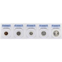 1937 (5) Coin Proof Set PCGS Graded PR63/64/65