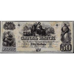 1800's $50 Canal Bank Obsolete Note