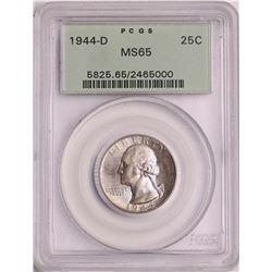 1944-D Washington Quarter Coin PCGS MS65