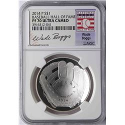 2014-P $1 Baseball Hall of Fame Coin NGC PF70 Ultra Cameo Wade Boggs