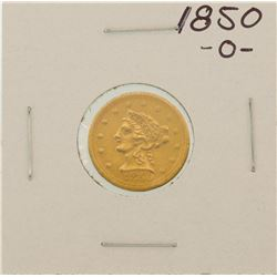 1850-O $2 1/2 Liberty Head Quarter Eagle Gold Coin