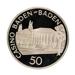 Casino Baden 30.5 gram .925 Sterling Silver Gaming Token