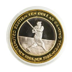 .999 Silver New York New York Casino Las Vegas $10 Limited Edition Gaming Token