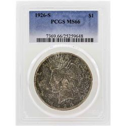 1926-S $1 Peace Silver Dollar PCGS MS66