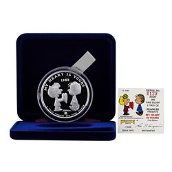 1988 Rarities Mint .999 Fine Silver 5 oz. Peanuts Limited Edition Round