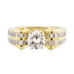 18KT Yellow Gold 2.54 ctw Diamond Ring
